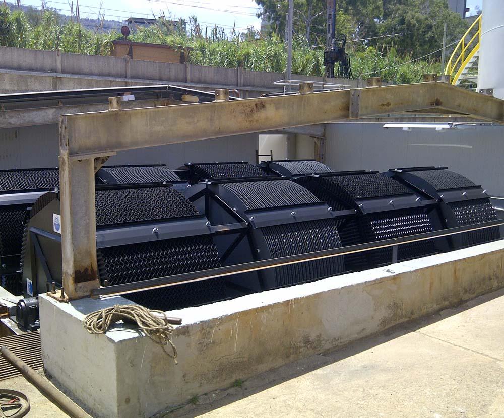 rotori biologici a dischi per l'ossidazione biologica dei rifiuti civili e industriali Allegri Ecologia